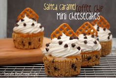 Inside BruCrew Life: Salted Caramel Coffee Chip Cheesecakes