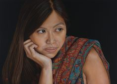 Portrait pastel sec - Portrait soft pastel - David Wells Artist - Suzana -53x73 cm- pastel on paper