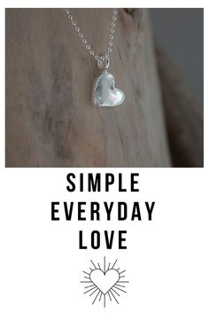 This dainty silver heart necklace is the perfect token of affection to be given to someone ' just because '. A sentimental gift for your love, your daughter, sister, friend or your bridesmaids. This tiny heart made from eco friendly silver is a dainty reminder to spread love and that they are loved.  A reminder to keep their heart open.  No matter what.  Celebrate love! Bridesmaid Gifts, Bridesmaids, Layered Necklaces Silver, Everyday Necklace, Tiny Heart, Gold Jewellery Design, Sentimental Gifts, Ball Chain, Eco Friendly