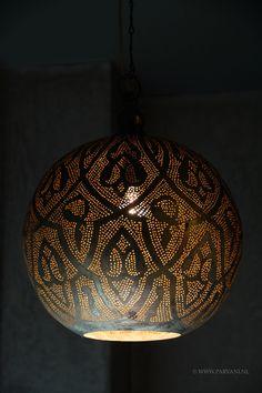 Parvani | Zenza-lamp-bol-zilver-egyptisch