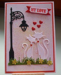 Liebe & Freundschaft - Grußkarte Katze  My Love - ein Designerstück von Wollzottel bei DaWanda