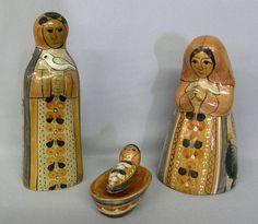 Pieces Glazed Tonala Pottery Nativity