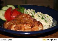 Rafinované kuřecí řízky recept - TopRecepty.cz Kefir, Grains, Treats, Chicken, Recipes, Food, Sweet Like Candy, Goodies, Essen