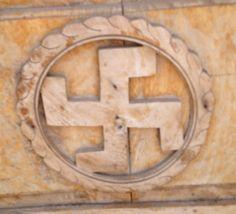 Swastika on door in Hampi India