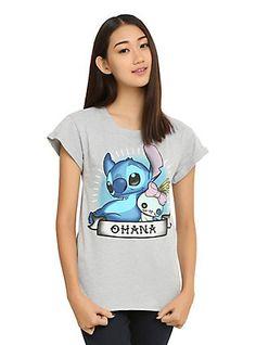 Disney Lilo & Stitch Ohana Tattoo Girls T-Shirt, , hi-res