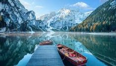 Lago di Braies in the Dolomites, Italy by Robert Breitpaul/iStock Sierra Club, South Tyrol, Free Travel, Adventure Awaits, Mount Everest, Beautiful Places, Mountains, Landscape, City