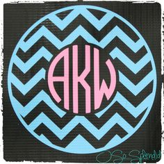 35 Colors To Choose from  6 Custom Circle Monogram by OSoSplendid, $11.00
