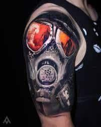 Gas Mask Tattoo Meaning 3 Cool Half Sleeve Tattoos Sleeves
