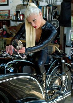 So Far Over Real Biker Babe, Biker Event, Motorcycle and incredible photos of Professional models posing with bikes of all kinds. If it has two or three wheels it gets posted… More. Lady Biker, Biker Girl, Bmw Cafe Racer, Cafe Racers, Chicks On Bikes, Motorbike Girl, Motorcycle Girls, Motorcycle Gear, Biker Chick