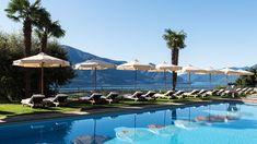 Hier beginnt der Sommer früher! Dieses Panorama-Boutique-Hotel hoch über Locarno bietet alles für eine erholsame Auszeit. Pool Bar, Villa, Hotels, Spa, Marina Bay Sands, Boutique, Building, Outdoor Decor, Travel