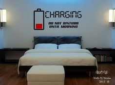 Children Teenager Adult Bedroom Wall Stickers Wall Art Charging Do Not Disturb | Home, Furniture & DIY, Home Decor, Wall Decals & Stickers | eBay!