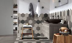 square tile commercial bathroom - Google Search