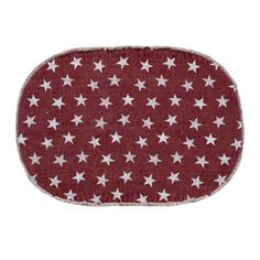 Multi Star Red Cotton Rug Oval 36x60 from Country Porch Home Decor.