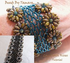 Laced With Kisses   Bead Tutorial Pattern PDF door BeadsByTamara