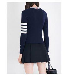 THOM BROWNE - Stripe-detail cashmere cardigan | Selfridges.com