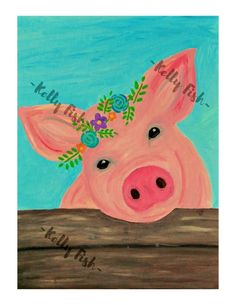 Made to order -Printed on cardstock EXCEPT printed on a satin finish paper and will be mailed in a photo tube. Canvas Painting Projects, Cute Canvas Paintings, Easy Canvas Art, Easy Canvas Painting, Spring Painting, Painting Prints, Canvas Prints, Painting Classes, Small Canvas