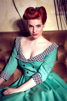 The bodice is way too low-cut for me, but I love the colors and find the checkered patterned unexpected in the most pleasing way. Eve rockabilly dress By TiCCi by TicciRockabilly on Etsy, $120.00