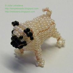 Beaded 3D pug. Free detailed tutorial.