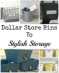 Dollar Store Bins To Stylish Storage: Just Add Paint