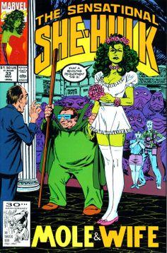 The Sensational She-Hulk 33 (november 1991). Cover by John Byrne.