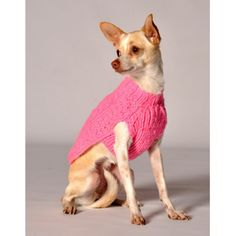 Chilly Dog Pink Cable Dog Sweater - 200105