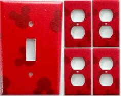 Mickey Mouse Club House Boys Girls Kids Bedroom Bathroom Light Switch Outlet or… Mickey Mouse Bathroom, Mickey Mouse House, Mickey Minnie Mouse, Disney Mickey, Bathroom Light Switch, Disney Rooms, Disney House, Mickey Decorations, Disney Kitchen