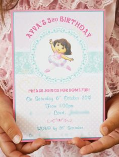 Pink Dora Ballerina Party // Hostess with the Mostess®   Dora theme birthday party ideas and inspiration