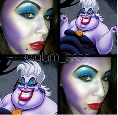 Ursula makeup for Toni Halloween Queen, Halloween Looks, Family Halloween Costumes, Halloween 2016, Halloween Town, Halloween Crafts, Halloween Makeup, Halloween Ideas, Holiday Crafts