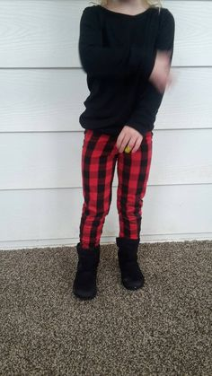 Hey, I found this really awesome Etsy listing at https://www.etsy.com/listing/263232715/red-and-black-buffalo-plaid-leggings-for