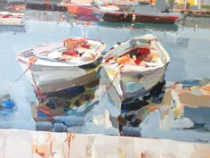 Wonderful boat painting by Josef Kote!