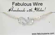 Infinity Crystal Heart Bracelet Double Heart by FabulousWire