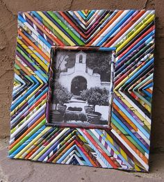 recycle girl picture frame
