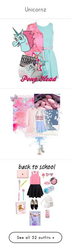 """Unicornz"" by halcyon-heart ❤ liked on Polyvore featuring Miso, Anna Molinari, Clips, Venessa Arizaga, Tai, AQ/AQ, Charlotte Russe, Monki, House of Cards and MM6 Maison Margiela"
