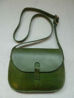 46800d34cd Mimi Berry classic Peggy satchel Green