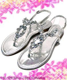 DNP Silver Sandals