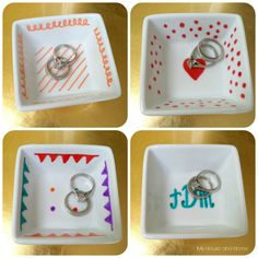 {DIY} Perfect little ring dishes make cute gift ideas! By My House and Home