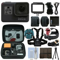 GoPro Black 12 MP Waterproof Camera Camcorder + Ultimate Action Bundle Source by mohaamoari Spy Camera, Best Camera, Leica Camera, Camera Gear, Film Camera, Camcorder, Camera Aesthetic, Xtreme, Tecnologia
