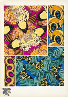 Vibrant Visions: Pochoir Prints in the Cooper-Hewitt . From the Smithsonian Museum Pochoir is a refined stencil-based. Information Art, Art Deco Pattern, Pattern Print, Madhubani Art, Reading Art, Art Nouveau Design, Photography Illustration, Elements Of Art, Graphic Design Art