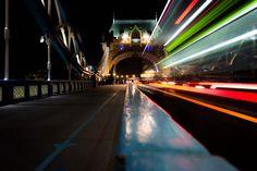 London at tower bridge practicing long exposure