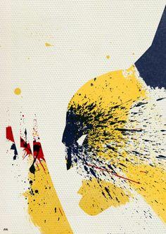 Paint Splatter Superheroes by Arian Noveir
