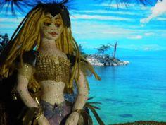 Mermaid Fabric/Cloth Art Doll Handmade OOAK by sherimusum on Etsy, $75.00
