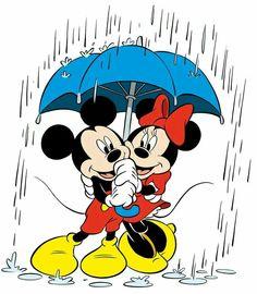 samen in de regen onder de plu