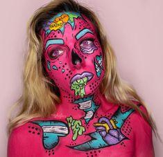 234 Likes, 5 Comments - Makeup Features Horror Makeup, Zombie Makeup, Halloween Makeup, Sfx Makeup, Contour Makeup, Halloween 2020, Pop Art Makeup, Face Paint Makeup, Makeup Inspo