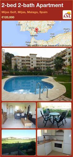 2-bed 2-bath Apartment in Mijas Golf, Mijas, Malaga, Spain ►€120,000 #PropertyForSaleInSpain