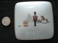 "Air France Concorde Porcelain Bernardaud Limoges Trinket Dish - ""Happy Holiday"""