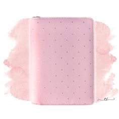 Planner binder A6/personal with zipper in pink at TanyaBrittany  shop