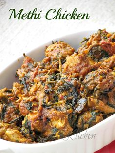 Indian Cuisine Recipes -- Press VISIT link above for more options Indian Chicken Dishes, Indian Chicken Recipes, Indian Dishes, Indian Food Recipes, Asian Recipes, Methi Recipes, Veg Recipes, Spicy Recipes, Curry Recipes