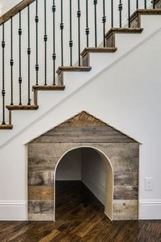 Under Stairs Dog House . Under Stairs Dog House . Under the Stairs Dog House Future House, The Future, Sweet Home, Stair Decor, Stairwell Decorating, Dog Rooms, House Goals, First Home, My Dream Home