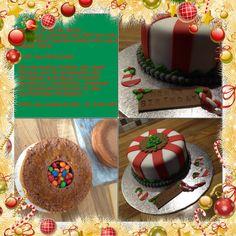 Een kersttaart midden in de zomer! Voor 'n kerst-fan, 'n chocoholic, 'n M&Mverslaafde.  www.cakesenjoy.blogspot.com