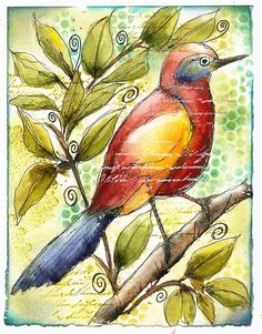 Colorful Thrasher by Martha Lever. Beautiful!